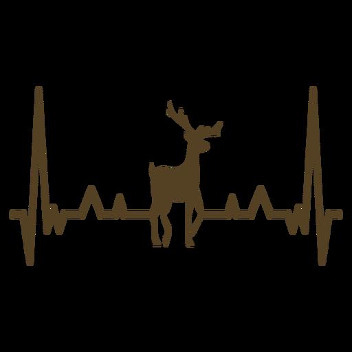 Golpe de cardiograma de chifre de veado de batimento cardíaco Transparent PNG