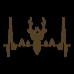 Latido del corazón cardiograma de los ciervos