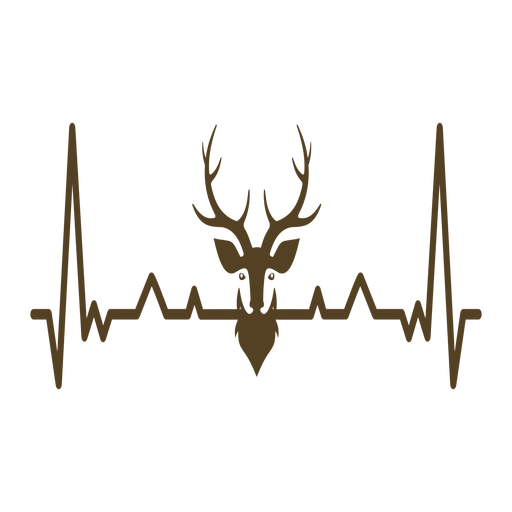 Heartbeat deer cardiogram stroke