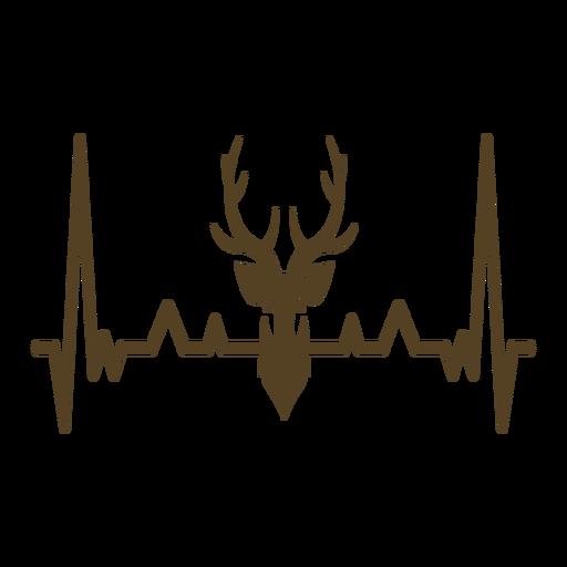 Latido del corazón cardiograma de los ciervos Transparent PNG