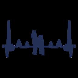 Cardiograma de cão batimento cardíaco