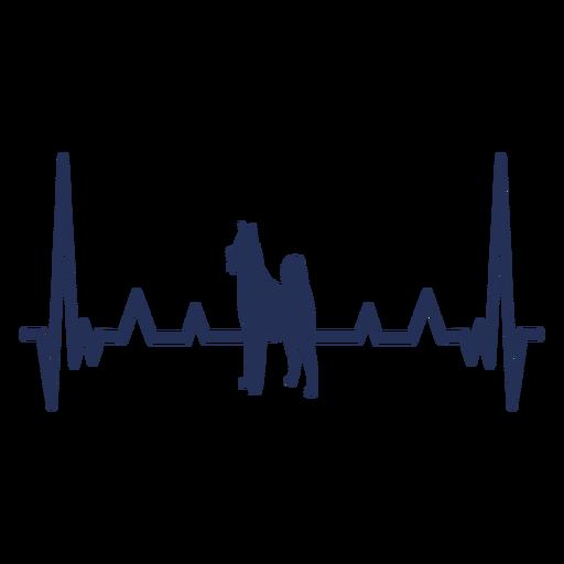 Cardiograma del perro del latido del corazón Transparent PNG