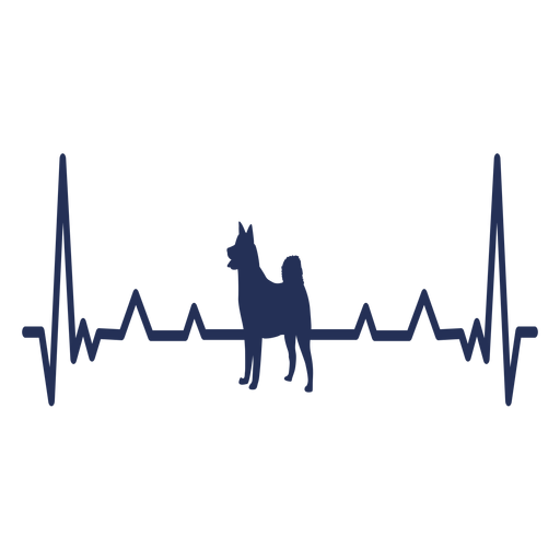 Heartbeat dog cardiogram stroke Transparent PNG