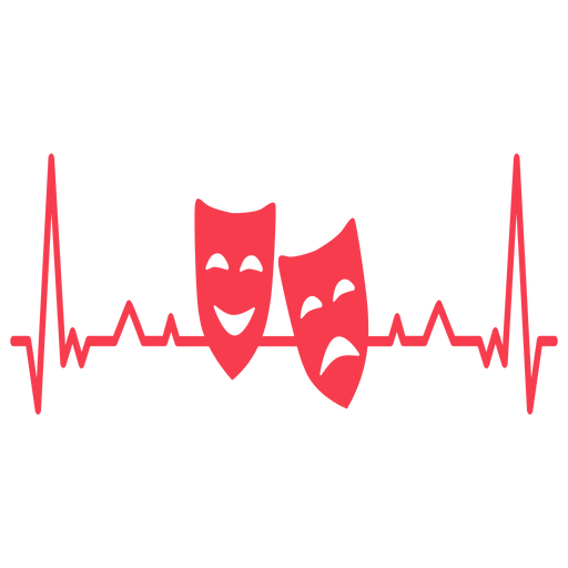 Heartbeat mask pair cardiogram stroke Transparent PNG