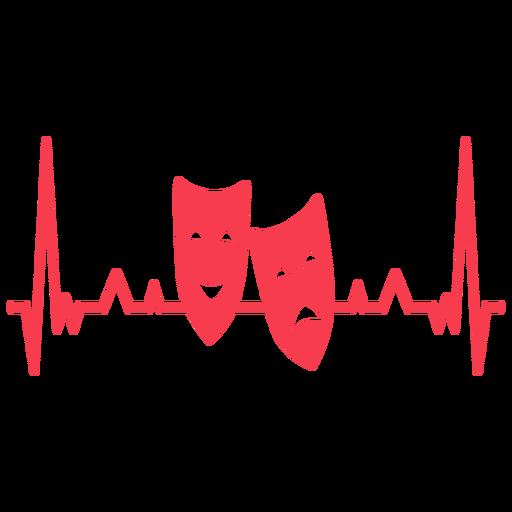 Parar de cardiograma de par de máscara de batimento cardíaco Transparent PNG