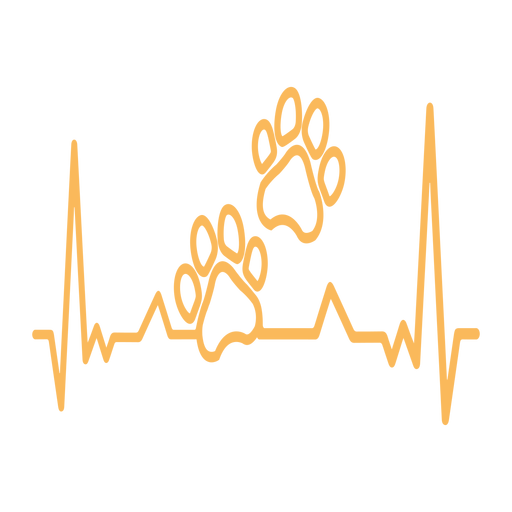 Latido del corazón pata impresión cardiograma trazo Transparent PNG