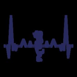 Sirena del latido del corazón sirena sirena ninfa cardiograma trazo