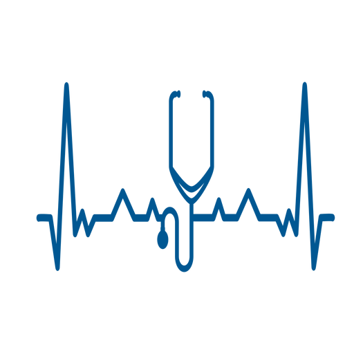 Heartbeat stethoscope cardiogram stroke Transparent PNG