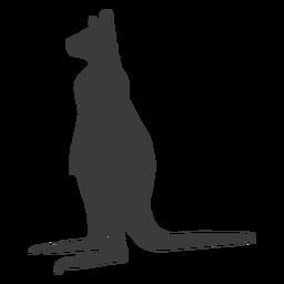 Canguru orelha perna cauda silhueta animal