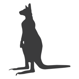Kangaroo ear leg tail silhouette animal