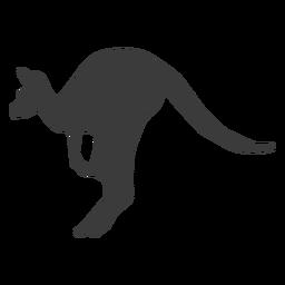 Canguro oreja cola pierna salto silueta animal