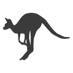 Kangaroo ear tail leg jump silhouette animal