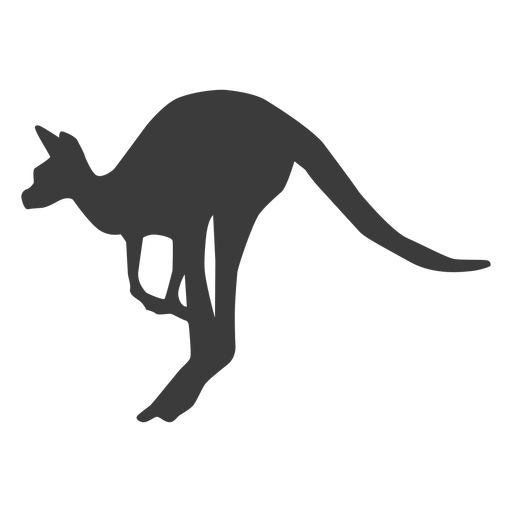 Canguro oreja cola pierna salto silueta animal Transparent PNG