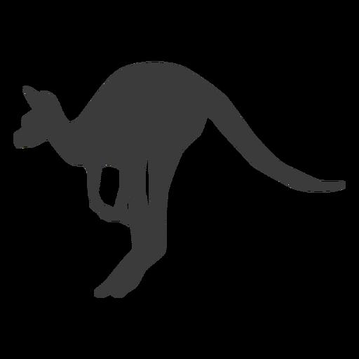Kangaroo ear tail leg jump silhouette animal Transparent PNG