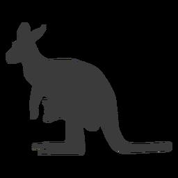 Canguru cauda orelha perna silhueta animal