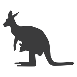 Kangaroo tail ear leg silhouette animal