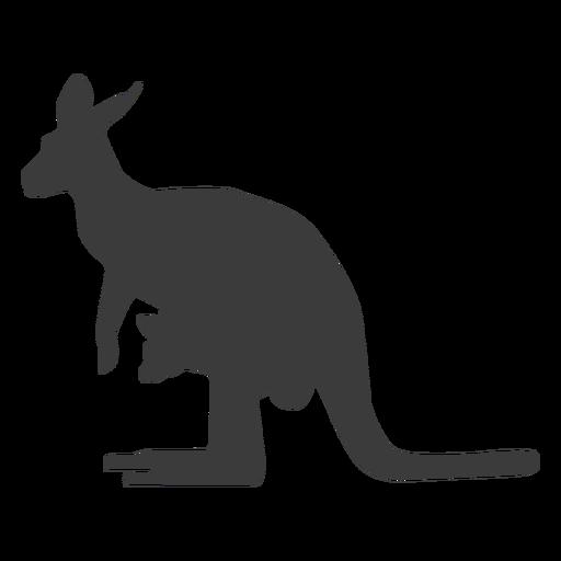 Canguro cola oreja pierna silueta animal Transparent PNG