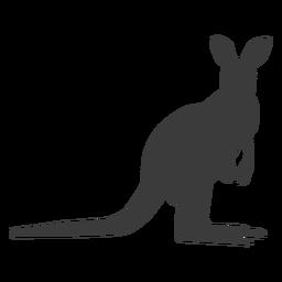 Canguru cauda perna silhueta animal