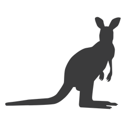 Kangaroo tail leg silhouette animal