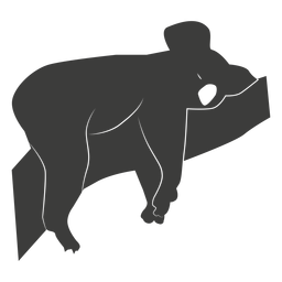 Koala ear leg nose branch silhouette animal