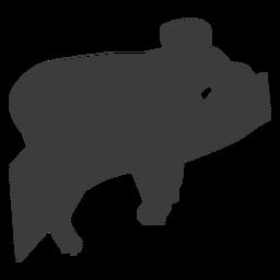 Koalaohrbeinnasen-Niederlassungs-Schattenbildtier