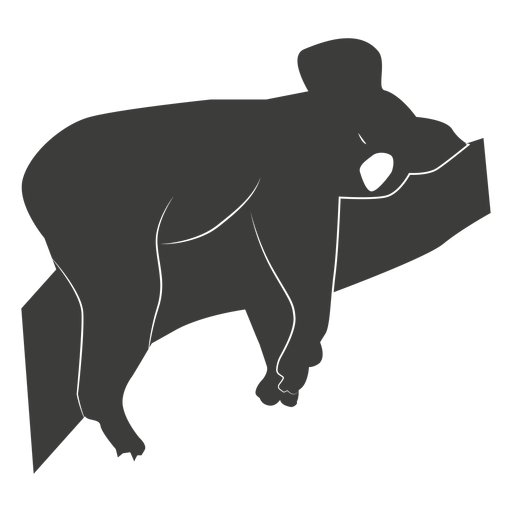 Koala ear leg nose branch silhouette animal Transparent PNG