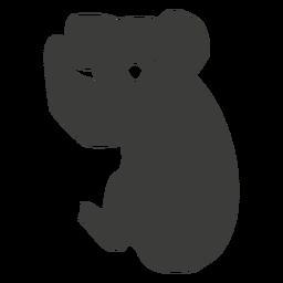 Silueta de nariz de pierna de oreja de koala