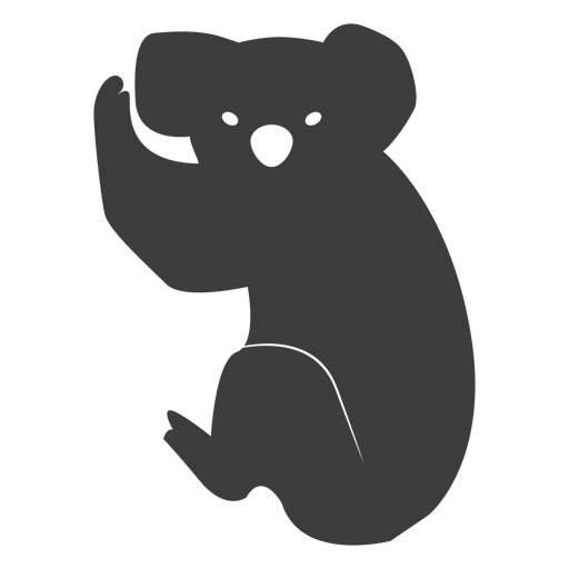 Koala Ohr Bein Nase Silhouette Transparent PNG