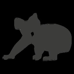 Silhueta de perna de nariz de orelha de coala
