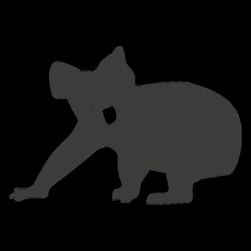 Silhueta de perna de nariz de orelha de coala Transparent PNG