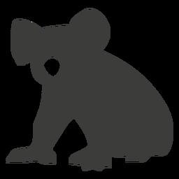 Koala pierna oreja nariz silueta animal