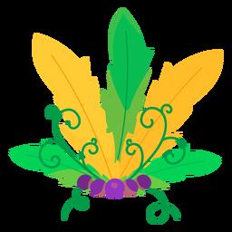 Leaf bead vignette flat