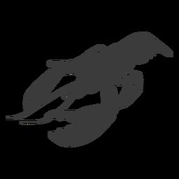 Silhueta de garra de antena de cauda de lagosta