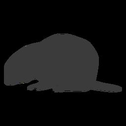 Silueta de cola de hocico de marmota
