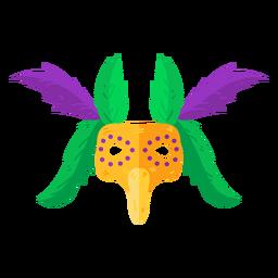 Máscara accesorio de plumas plana