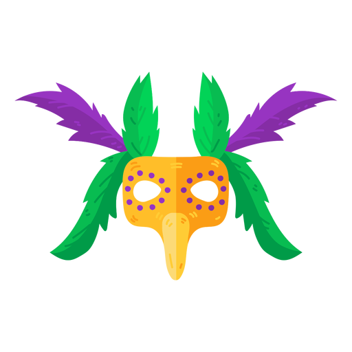 Mask accessory feather flat