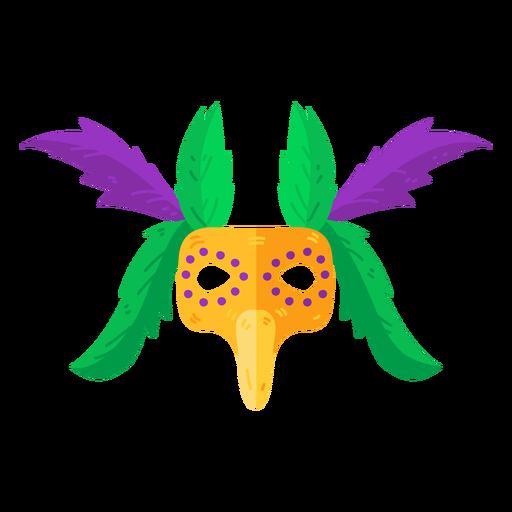 Maske Zubehörfeder flach Transparent PNG