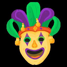 Máscara payaso bufón bufón plano