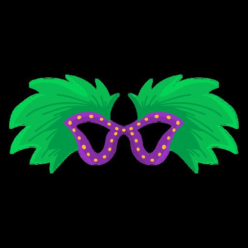 Maskenfeder flach Transparent PNG