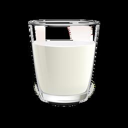 Ilustração de vidro de leite