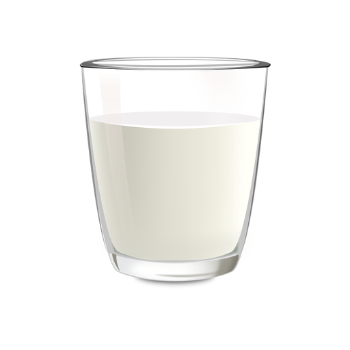 Milk glass illustration Transparent PNG