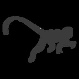 Monkey leg tail silhouette