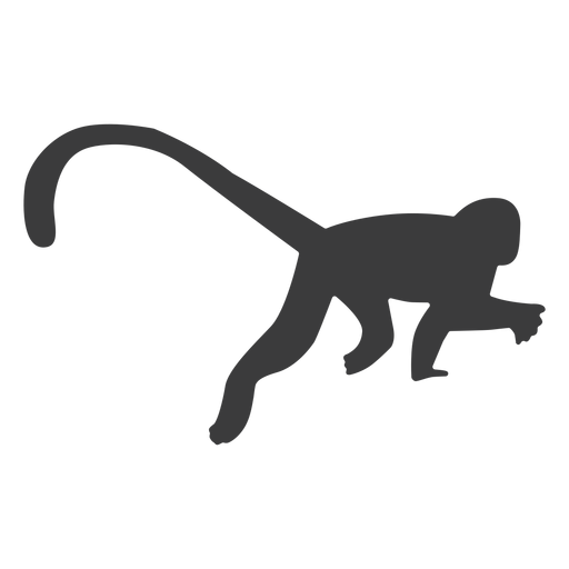 Monkey leg tail silhouette Transparent PNG