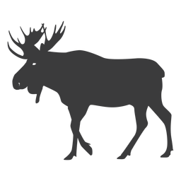 Moose antler elk silhouette animal