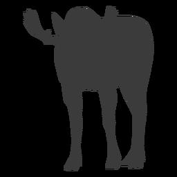 Moose elk antler hoof silhouette animal