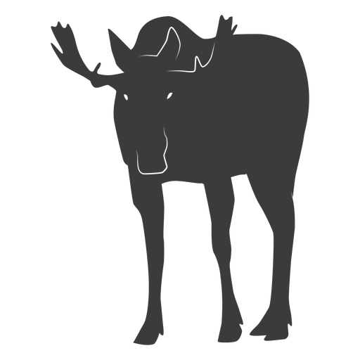 Moose elk antler hoof silhouette animal Transparent PNG