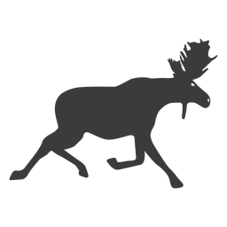 Moose elk antler silhouette animal