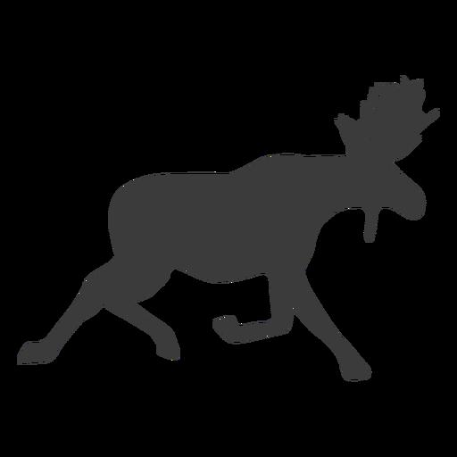 Moose elk antler silhouette animal Transparent PNG