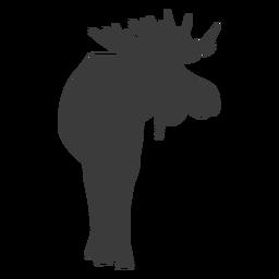 Alce alce pezuña cuerno silueta animal