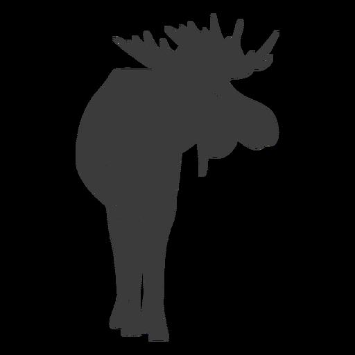Moose elk hoof antler silhouette animal Transparent PNG